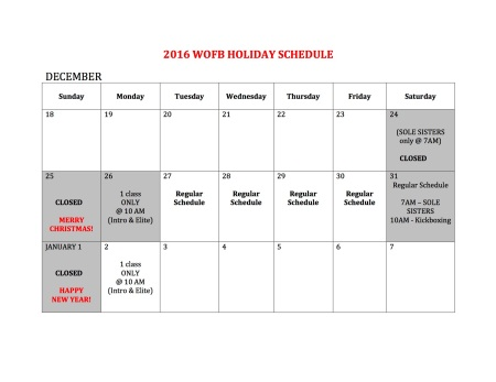 2016-wofb-holiday-schedule